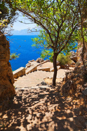 turkey beach: Beach at Antalya Turkey - travel background