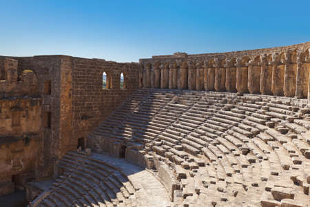 Old amphitheater Aspendos in Antalya Turkey - archaeology background