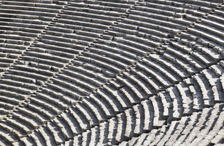 ancient greek: Ruins of Epidaurus amphitheater, Greece - archaeology background Stock Photo