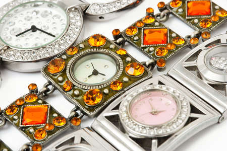 Group of woman watches - fashion background photo