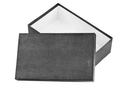 Opened box isolated on white background photo