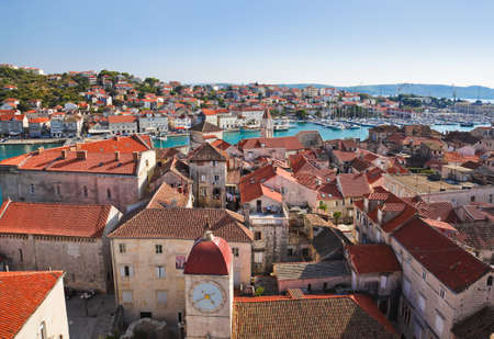 Town Trogir in Croatia - architecture background Stock Photo - 13692015