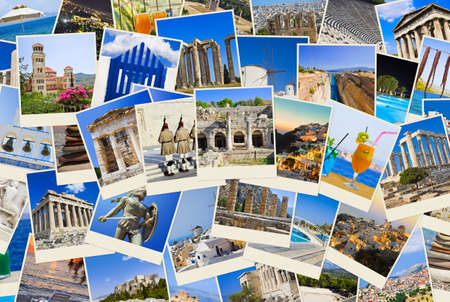 Stack of Greece shots  - nature and travel background  my photos
