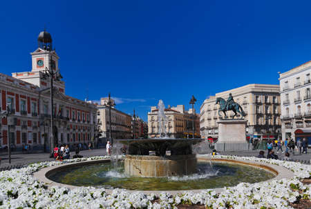 Sol plaza in the center of Madrid Spain
