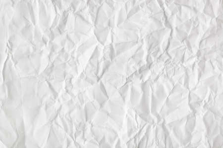 Crumpled white paper texture - abstract background Stock Photo - 13782588