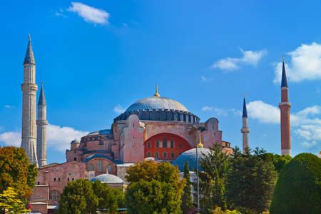 Hagia Sophia in Istanbul Turkey - architecture religion background photo