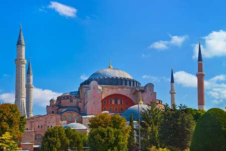 hagia: Hagia Sophia in Istanbul Turkey - architecture religion background Stock Photo