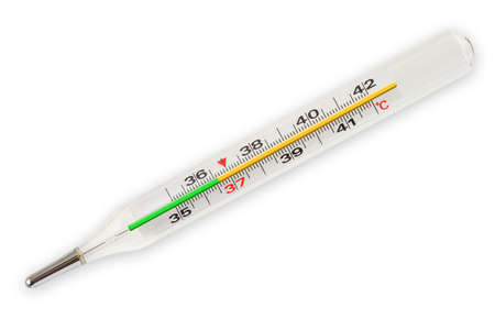 Medical thermometer isolated on white background
