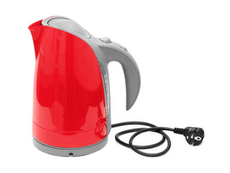 Electric kettle isolated on white background photo