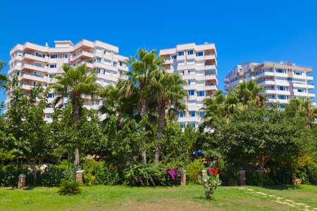 turkey beach: View to Antalya  Turkey  - travel background