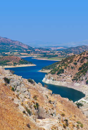View from ancient city of Pergamon to the lake  Turkey  Stock Photo - 13905456