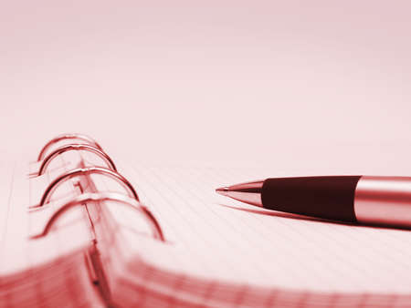organizer page: Pen and notepad - abstract business background