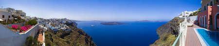 firostefani: Santorini panorama  Firostefani  - vacation background