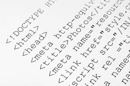Printed internet html code - computer technology background Stock Photo - 15310807