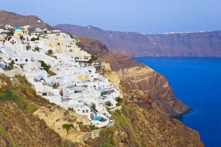 Santorini view  Oia , Greece - vacation background photo