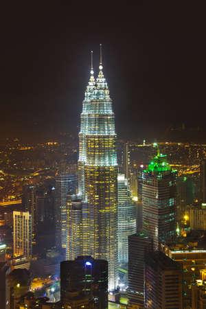 Twin towers at Kuala Lumpur  Malaysia  - architecture background