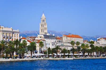 dalmatia: Diocletian palace in Split, Croatia - architecture travel background Stock Photo