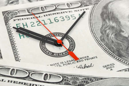Time is money - business concept background photo