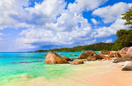 Beach Anse Lazio at island Praslin, Seychelles - vacation background photo