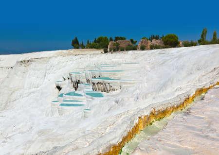 pamuk: Travertine pools and terraces - Pamukkale Turkey