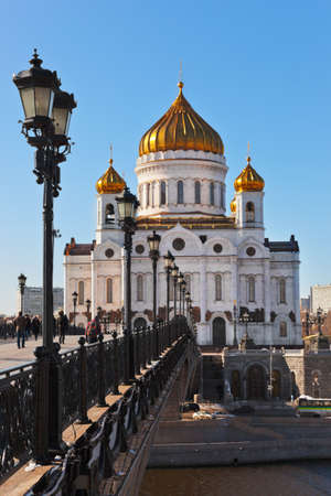 Cathedral of Christ the Savior in Moscow  Russia  at winter
