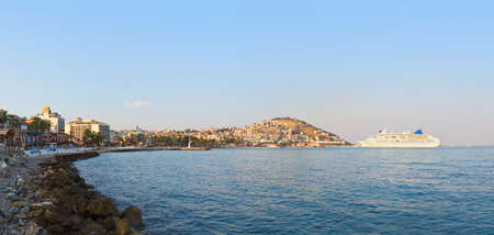 Morning panorama of Kusadasi Turkey - travel background photo