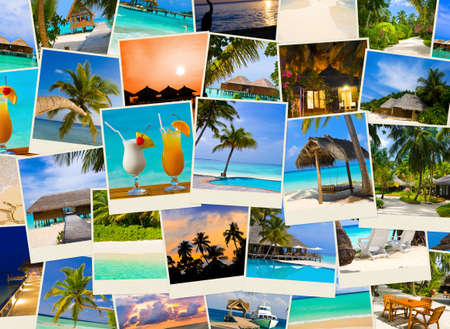 Summer beach maldives images - nature and travel background photo
