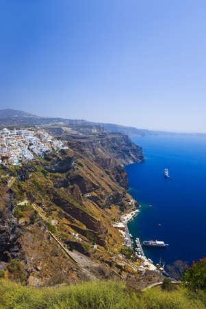 thira: Santorini View  Thira  - vacation background