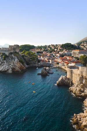 croatia dubrovnik: Town Dubrovnik in Croatia - architecture background