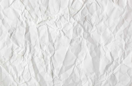 crimp: Crumpled white paper texture - abstract background