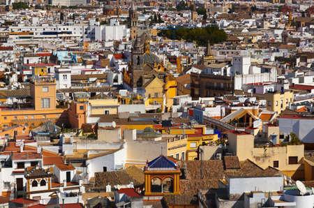 sevilla: Panorama van Sevilla Spanje - uitzicht van de kathedraal klokkentoren