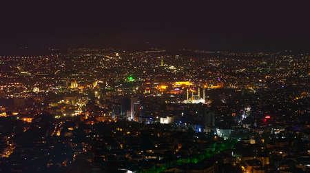 Ankara Turkey at night - architecture travel background Stock Photo
