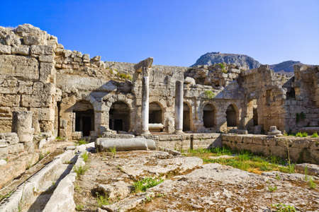archaeology: Ruins in Corinth, Greece - archaeology background