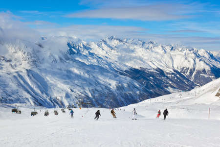 ski track: Mountain ski resort Hochgurgl Austria - nature and sport background