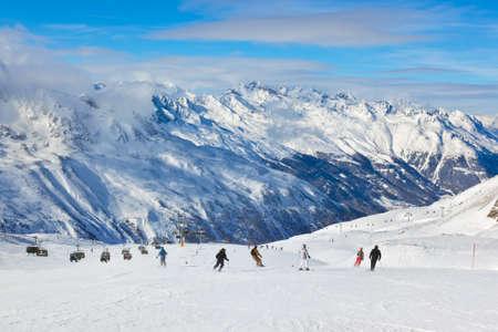 ski: Mountain ski resort Hochgurgl Austria - nature and sport background