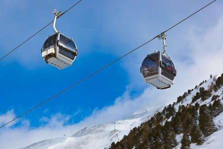 Mountain ski resort Obergurgl Austria - nature and sport background photo
