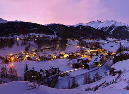 ski resort: Mountains ski resort Solden Austria - nature and architecture background