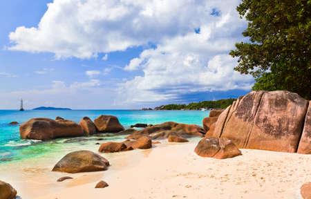 lazio: Beach Anse Lazio at island Praslin, Seychelles - vacation background