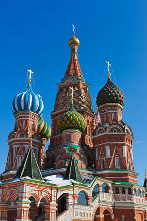 Saint Basil Cathedral on Red square, Moscow  Russia  photo