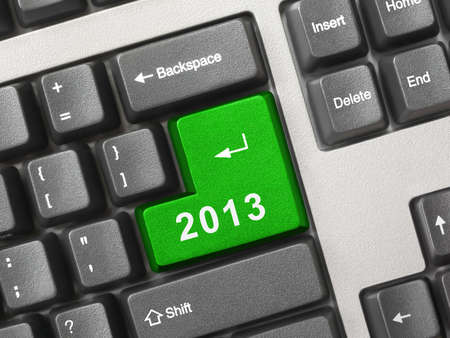 Computer keyboard with 2012 key - holiday concept Stock Photo - 15879258