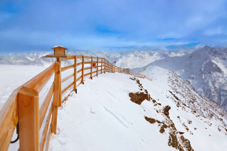 Mountains ski resort Solden Austria - nature and sport background Stock Photo