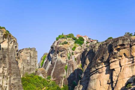 monastery nature: Meteora monastery in Greece - travel background Stock Photo