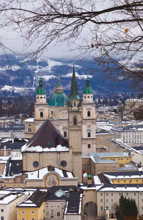 Salzburg Austria at winter - architecture background photo