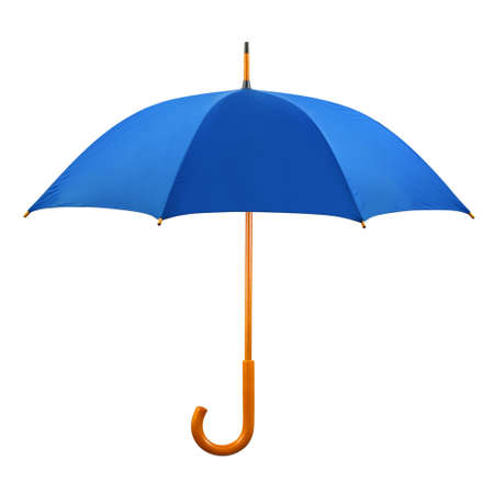 weather protection: Opened umbrella isolated on white background
