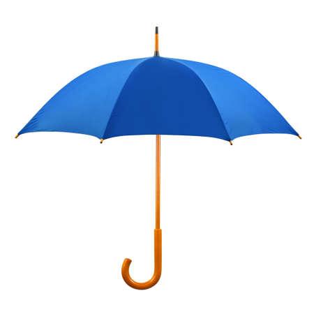 lluvia paraguas: Paraguas abierto aisladas sobre fondo blanco