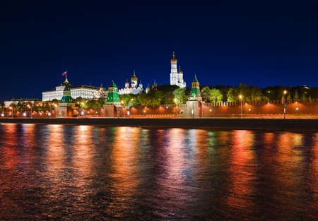 Kremlin in Moscow  Russia  at night photo