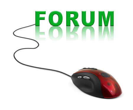 Computer mouse and word Forum - internet concept photo