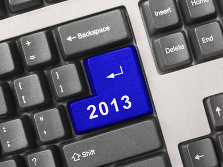 Computer keyboard with 2012 key - holiday concept Stock Photo - 16067181
