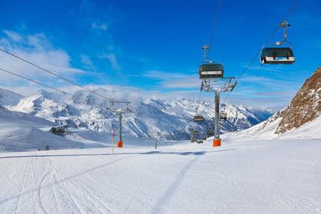 slopes: Mountain ski resort Hochgurgl Austria - nature and sport background
