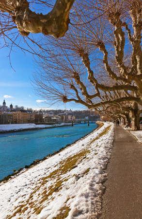 River in Salzburg Austria - travel background photo